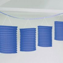 Royal Blue Paper Lantern Garland